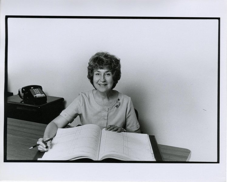 Photo of Carnegie Hall booking manager Gilda Weissberger in 1978